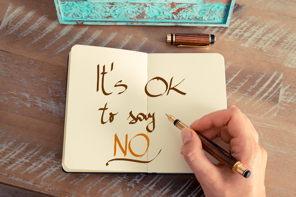 is saying yes the easy way out fire up the courage to say no